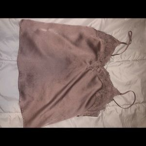 Abercrombie and Fitch silk pink tank top
